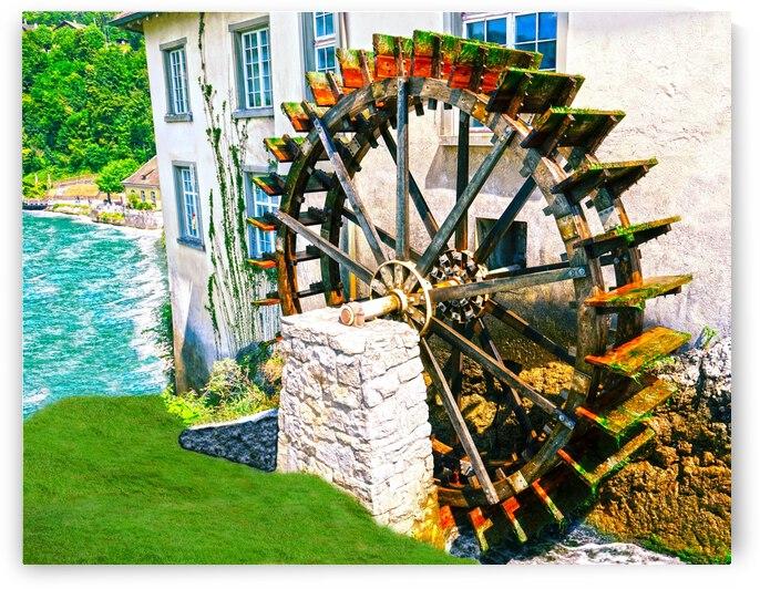 The Water Wheel - Rheinfall Switzerland - Rhine Falls by 1North