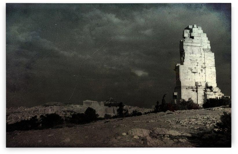 Philopappos hill   Athens 1989 by Antonio Pappada