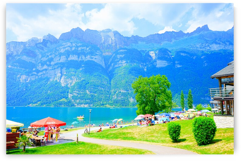 Snapshot in Time Walensee - Lake Walen Switzerland 1 of 3 by 1North