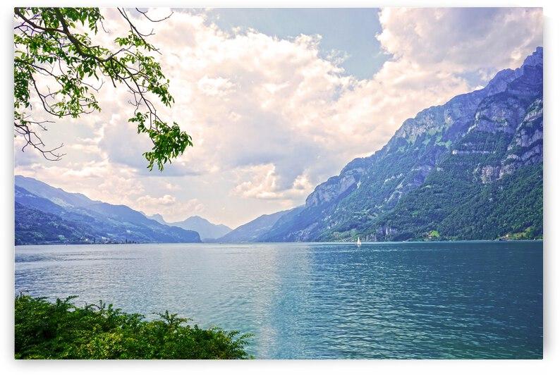 Gold and Blue - Lake Walen Switzerland by 360 Studios