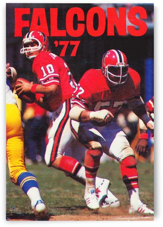 1977 Atlanta Falcons Retro Football Poster by Row One Brand