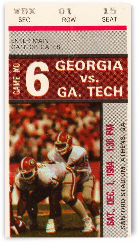 1984 Georgia Tech vs. Georgia by Row One Brand