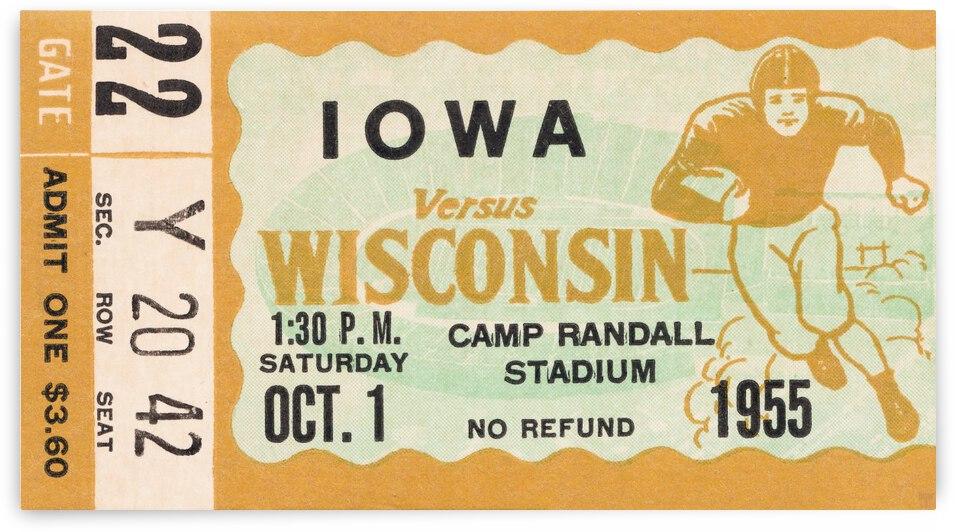 1955 Iowa Hawkeyes vs. Wisconsin Badgers by Row One Brand