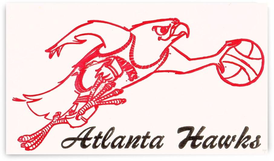 1970 Atlanta Hawks Ticket Stub Art by Row One Brand