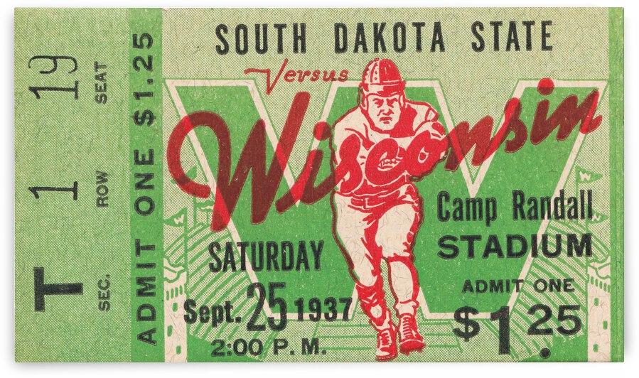 1937 South Dakota Jackrabbits vs. Wisconsin Badgers by Row One Brand