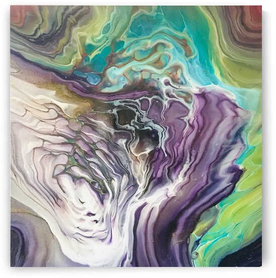 Peacock Marble Abstract by Amirah Hall
