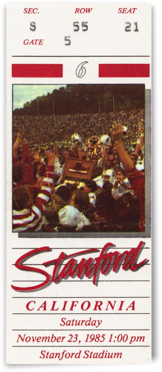 1985 California Bears vs. Stanford Cardinal by Row One Brand