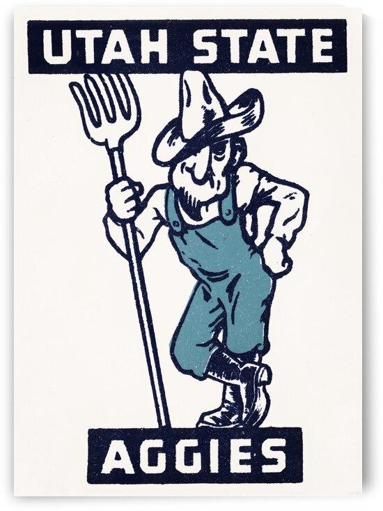 Vintage Forties Utah State Aggies Art by Row One Brand