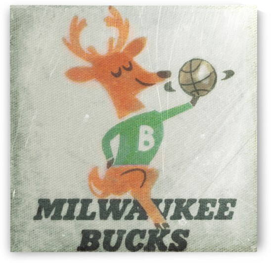 1974 Milwaukee Bucks Fleer Decal Art by Row One Brand