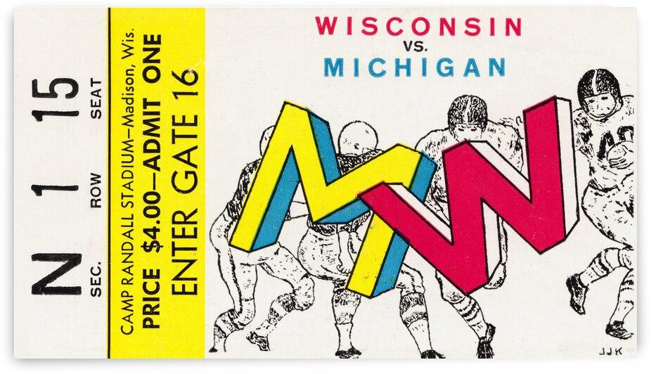 Artist JJK Wisconsin Badgers vs. Michigan Wolverines by Row One Brand