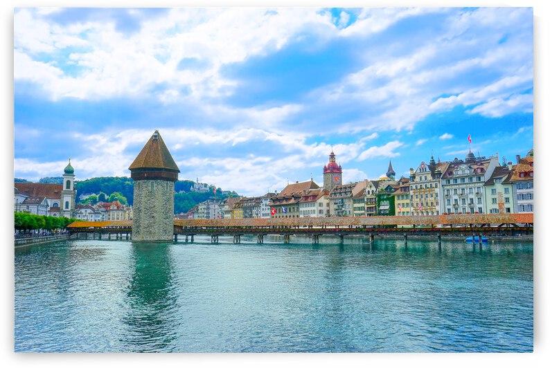 Chapel Bridge   Lucerne Switzerland by 1North