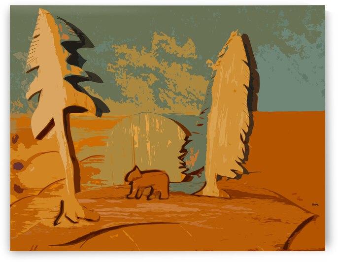 One bear walking by Robert Owen Margetts