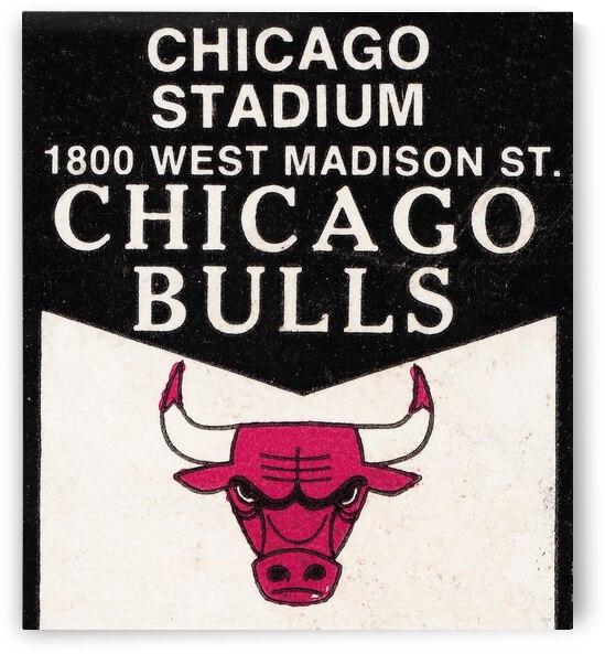 1976 Chicago Bulls Ticket Stub Remix Art by Row One Brand