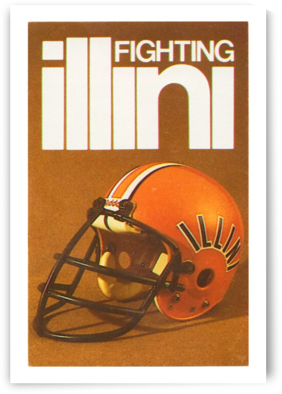 1980 Illinois Illini Football Poster by Row One Brand