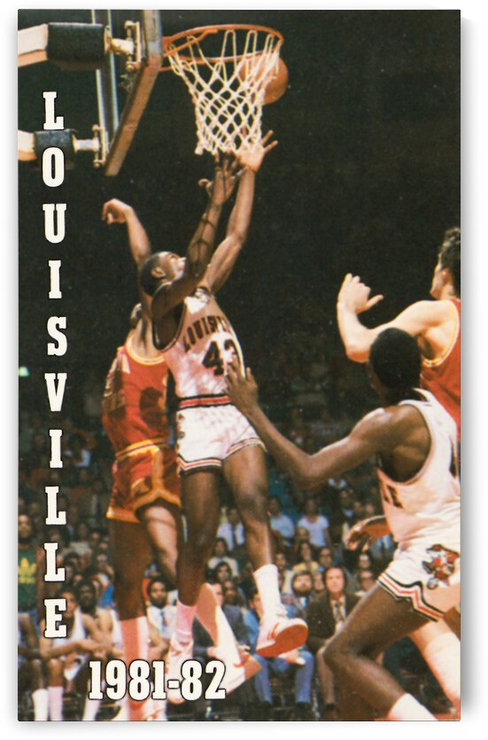 1981 Louisville Basketball Poster by Row One Brand