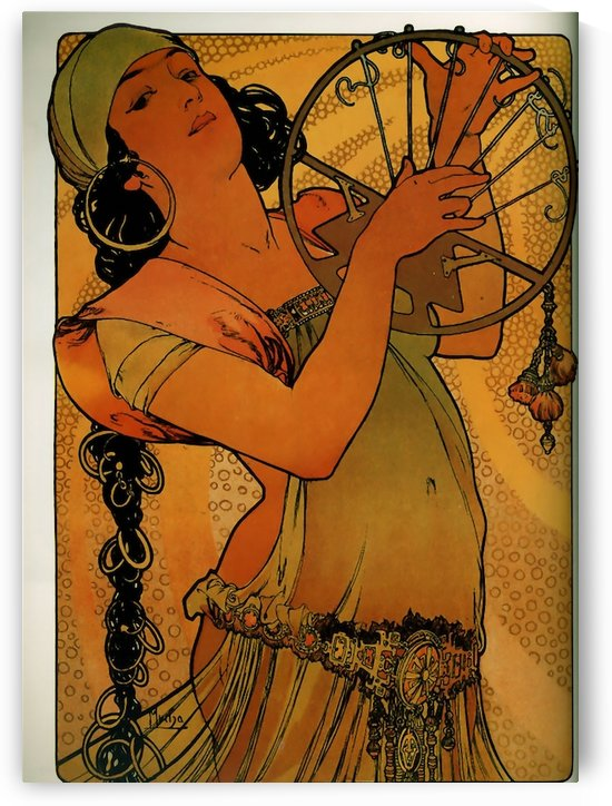 Solome by Alphonse Mucha by VINTAGE POSTER