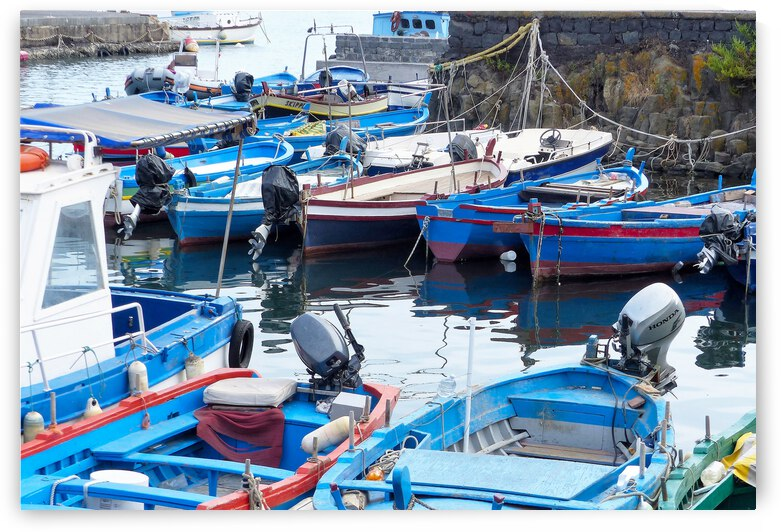 Boats in Sicily by Astrid Lutz
