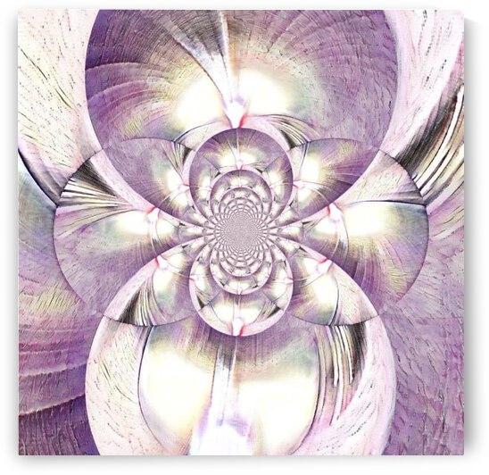 Purple Fractal by Jenn Rosner