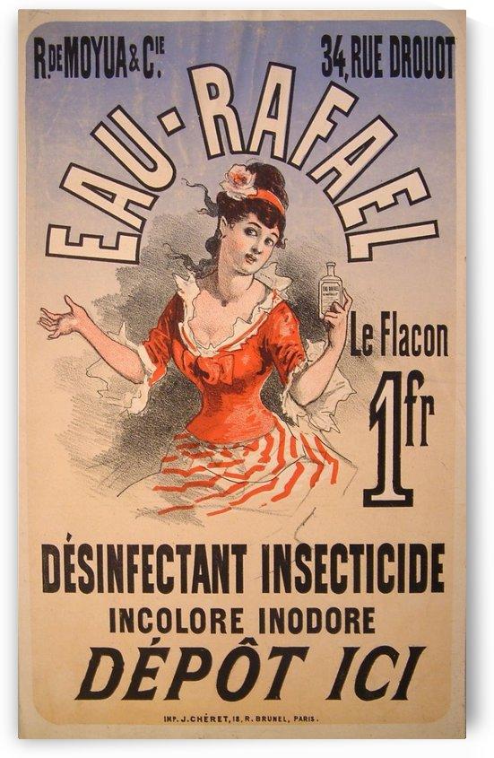 Eau Rafael Colour Lithograph Poster by VINTAGE POSTER