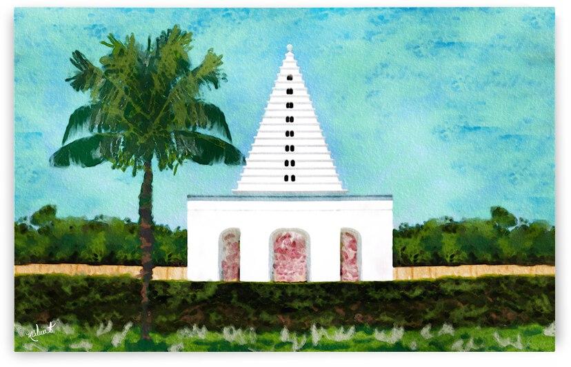 Alys Beach Palm&Pagoda by Nancy Calvert