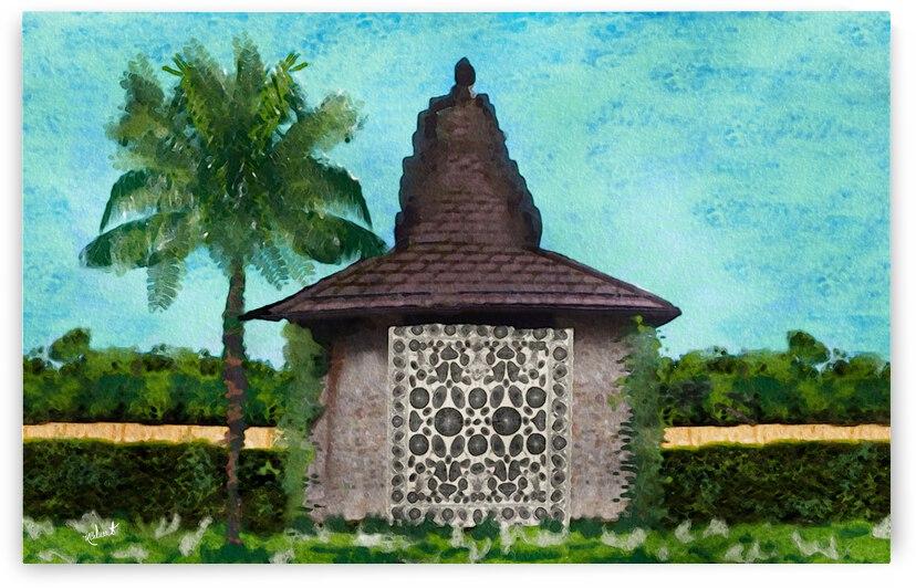 Coastal Palm&Barn by Nancy Calvert