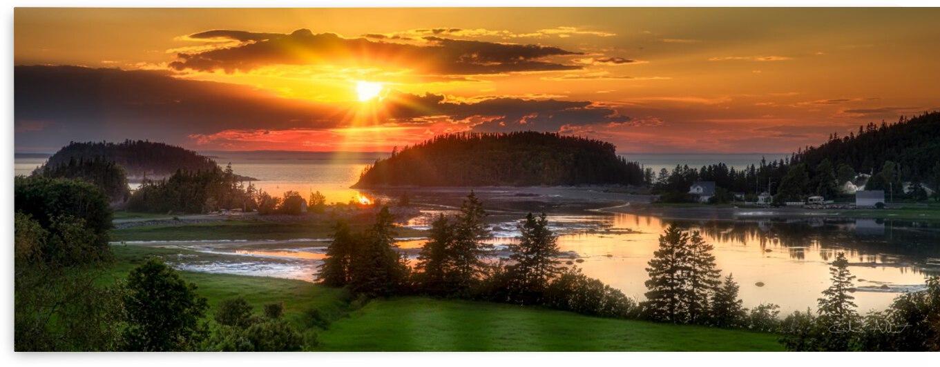 Coucher de soleil au Bic by Glenn Albert