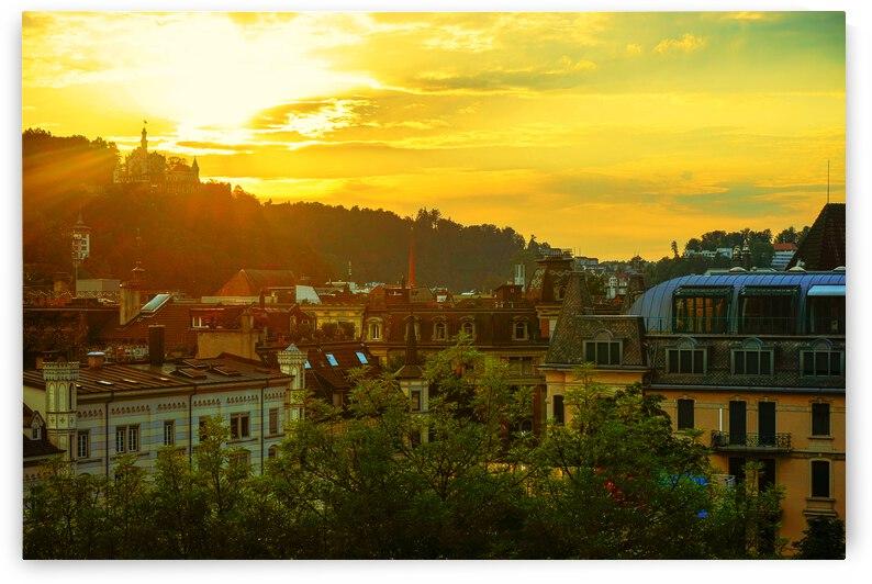 Summer Sunset over Lucerne Switzerland by 360 Studios