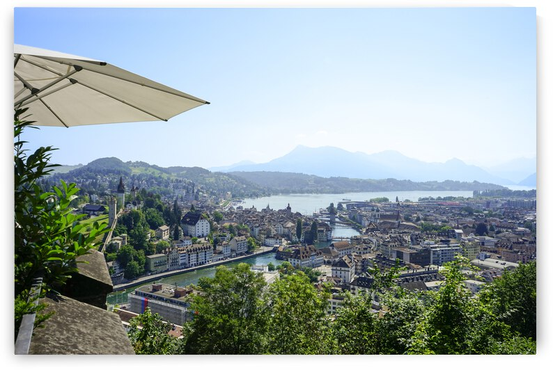 Stunning View to Lake Lucerne in the Central Swiss Alps by 1North