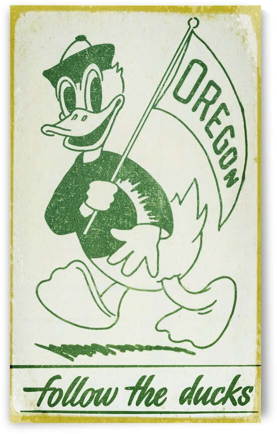 1951 Vintage Oregon Duck Art by Row One Brand