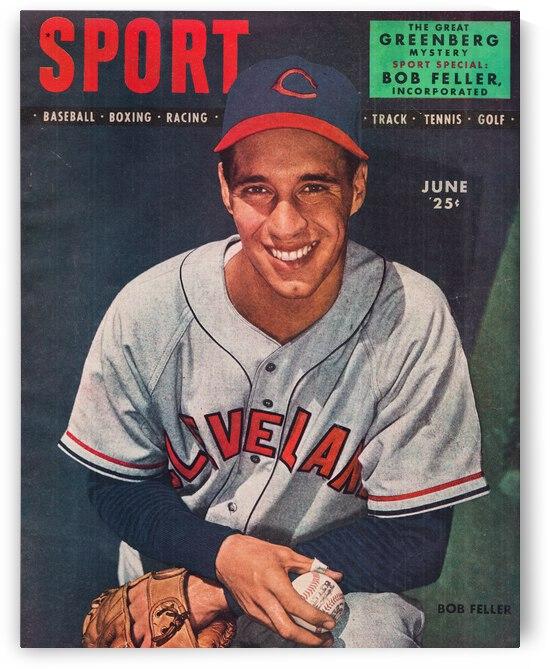 1947 Bob Feller Sport Magazine Cover Art by Row One Brand