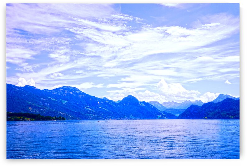 Beautiful Day The Alps and Lake Lucerne 1 of 2 by 1North