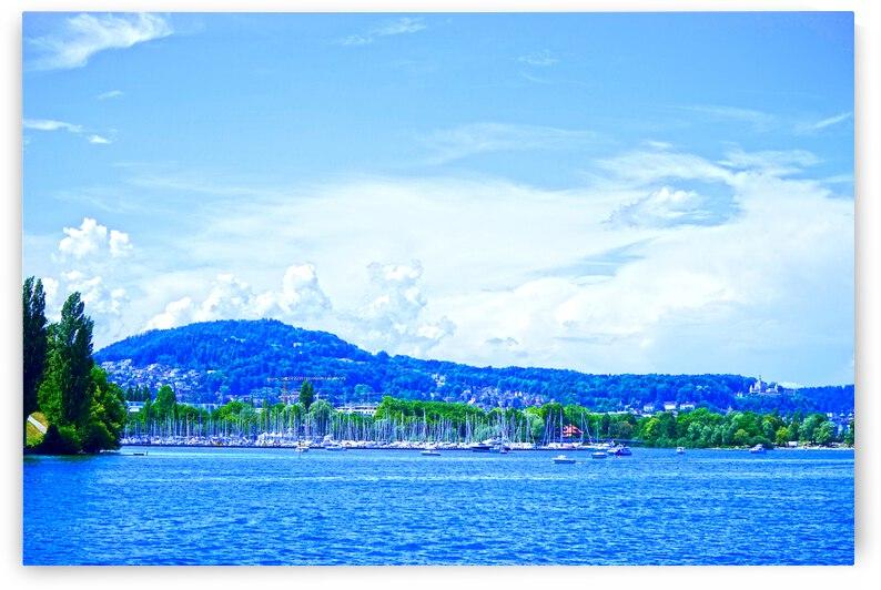 Lucerne Harbor   Lake Lucerne Switzerland 1 of 2 by 24
