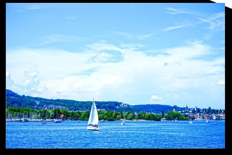 Lucerne Harbor   Lake Lucerne Switzerland 2 of 2 by 24