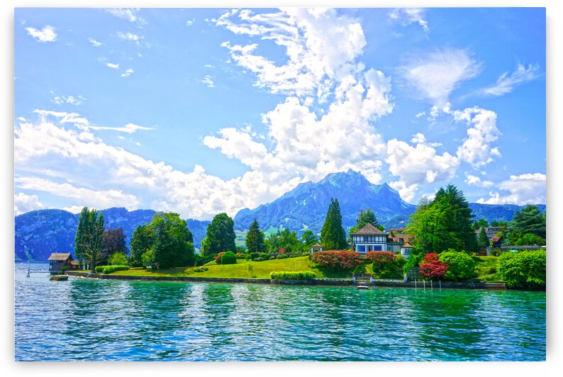 Perfect Day on the shores of Lake Lucerne Switzerland by 1North