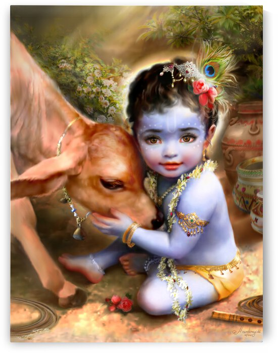 Govinda  who pleases cows  gopis and Mother Earth by Anandamayi dd