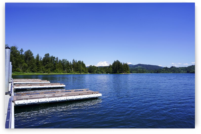 Alder Lake and Mount Rainier Pacific Northwest United States by 1North
