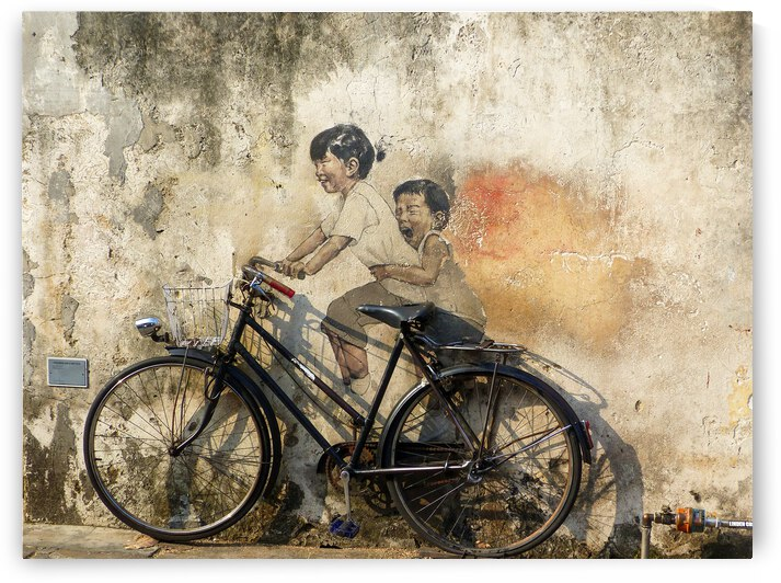 Childrens on bicycle by Astrid Lutz