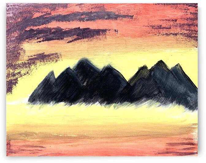 sunsetmountain 10x8 by Robert Hackett