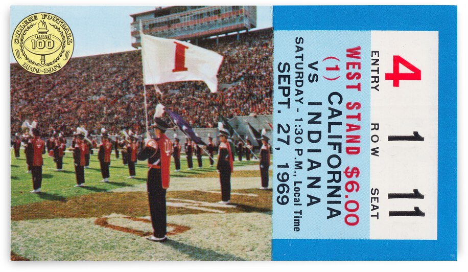 1969 Cal Bears vs. Indiana Hoosiers by Row One Brand