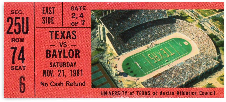 1981 Texas Longhorns vs. Baylor Bears by Row One Brand