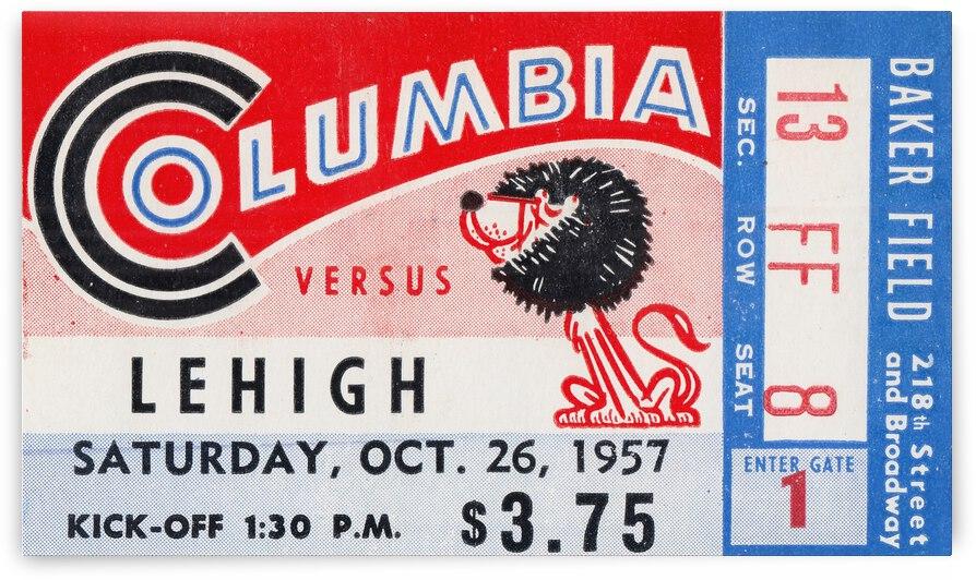 1957 Columbia Lions vs. Lehigh Engineers by Row One Brand