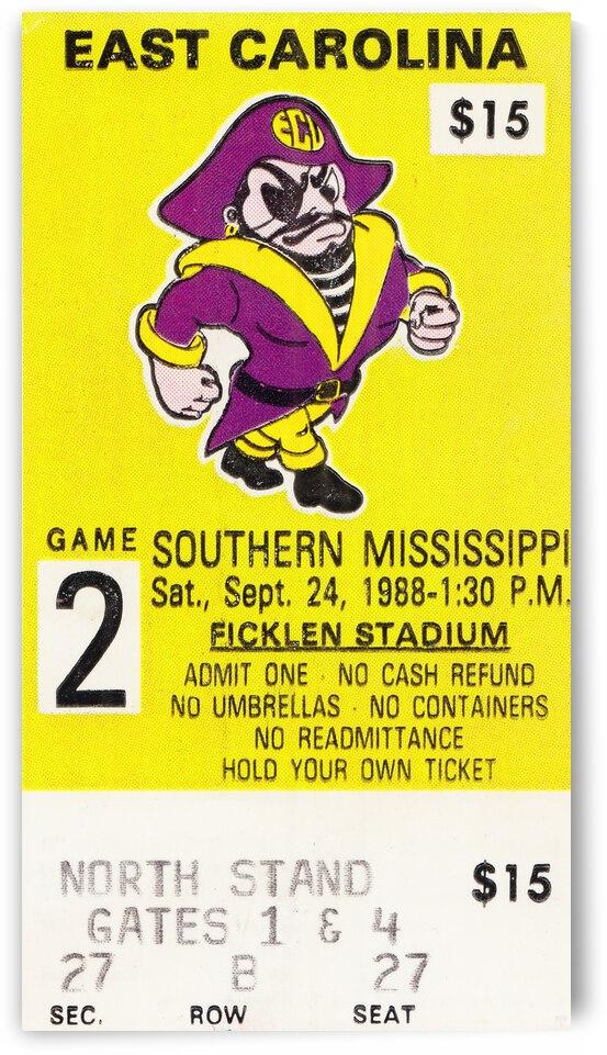 1988 East Carolina vs. Southern Miss by Row One Brand