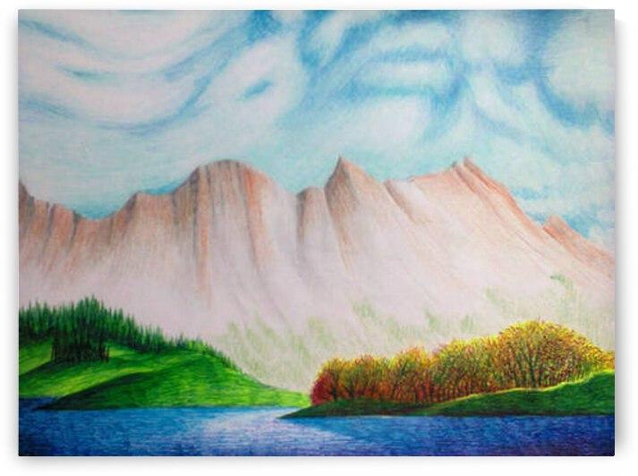 Rocky Mountain Lake by John Baroque