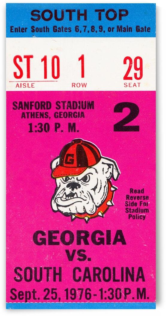 1976 Georgia vs. South Carolina by Row One Brand