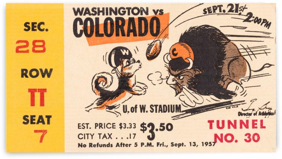 1957 Washington Huskies vs. Colorado Buffaloes by Row One Brand