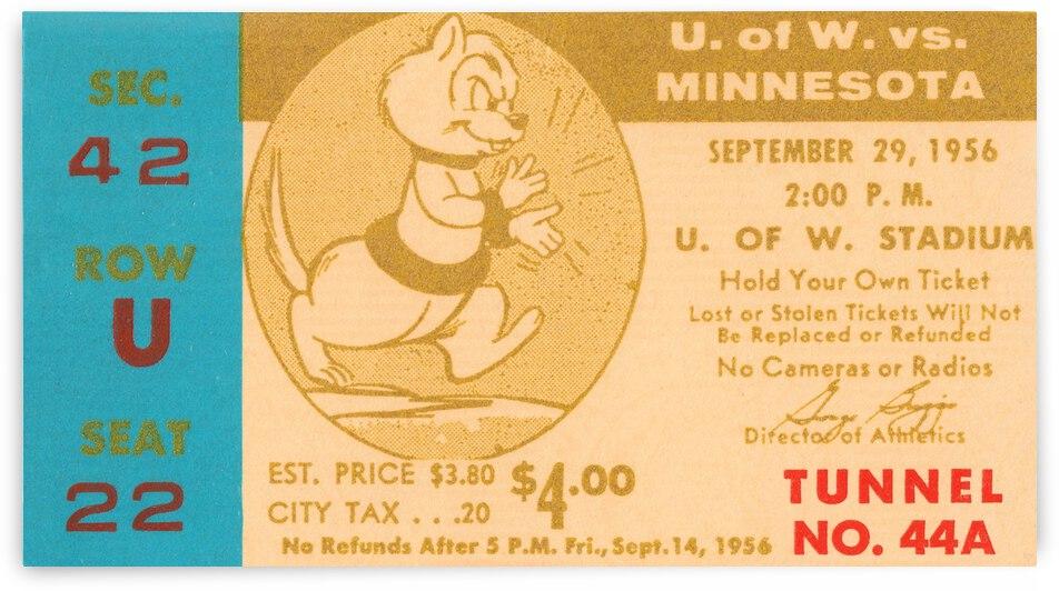 1956 Washington Huskies vs. Minnesota Golden Gophers by Row One Brand