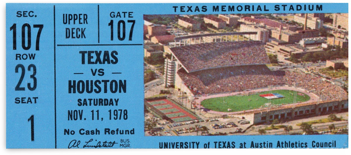 1978 Houston Cougars vs. Texas Longhorns by Row One Brand