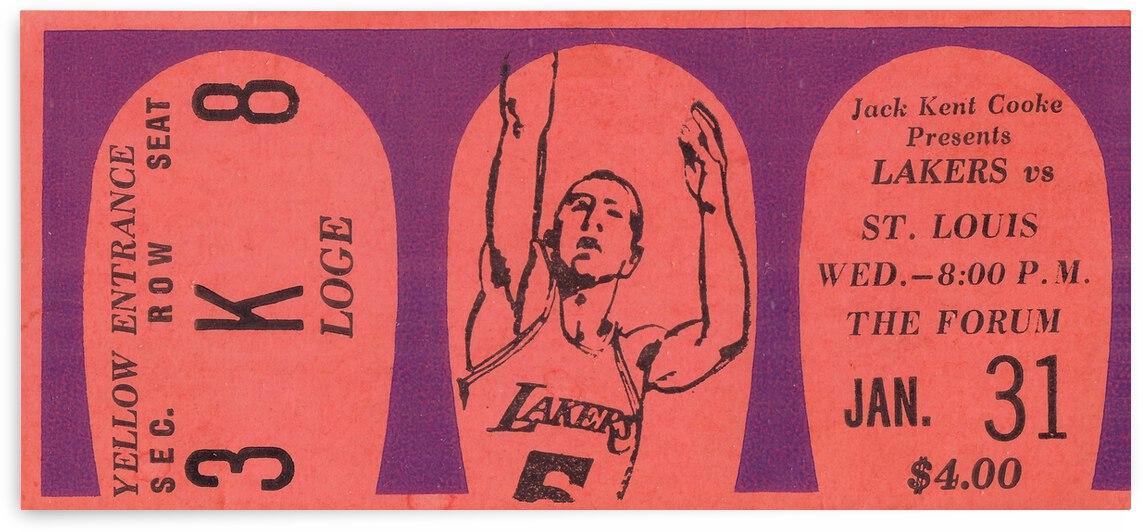 1968 LA Lakers vs. St. Louis Hawks by Row One Brand