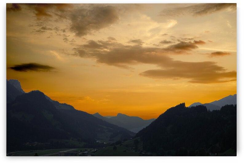 Sunset in the Saanen Valley in Switzerland by 24