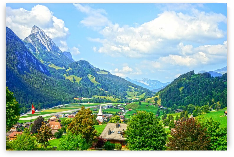Beautiful Day in the Saanen Valley in Switzerland by 24